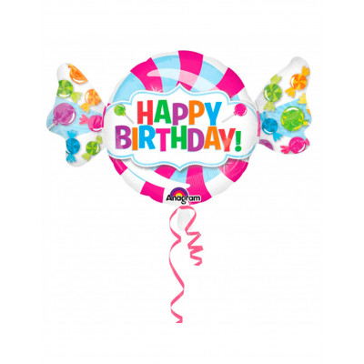 Balon cukrik Happy Birthday