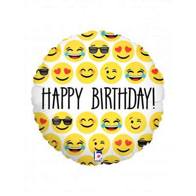 Balon EMOJI HAPPY BIRTHDAY...