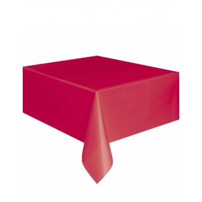 Obrus cerveny plastovy...
