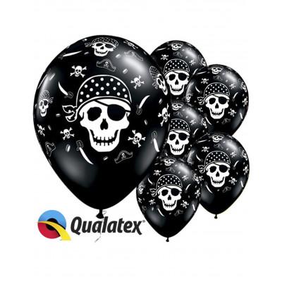 Latexove balony 6ks pirat 30cm