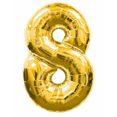 Balon zlaty c.8   88cm