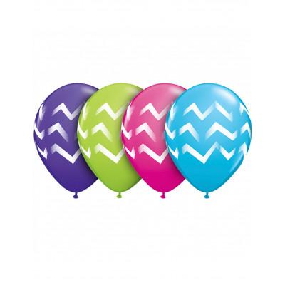 Latexove balony pasiky 6ks...