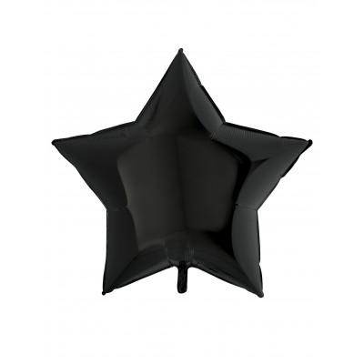 Balon cierna hviezda 90cm