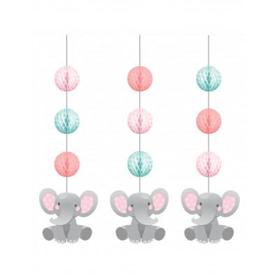 Zavesna dekoracia slon ruzovy