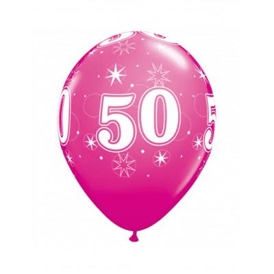 Latexove balony ruzove c.50...