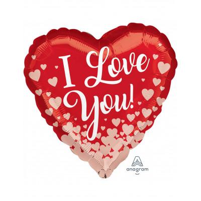 Balon srdce I love you
