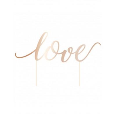 Zapich na tortu LOVE rosegold