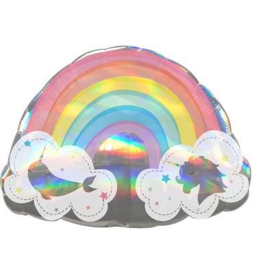 AMSC  Balon holograficky duha