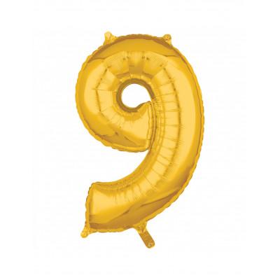 Balon zlaty c.9   88cm