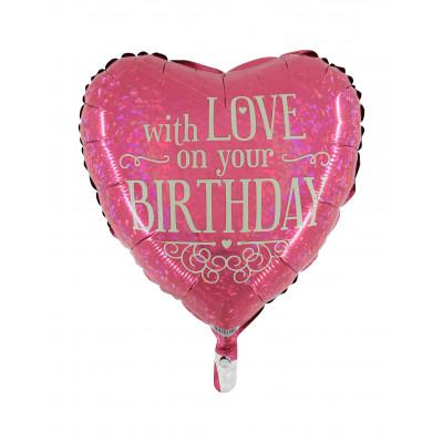 Balon HAPPY BIRTHDAY srdce...