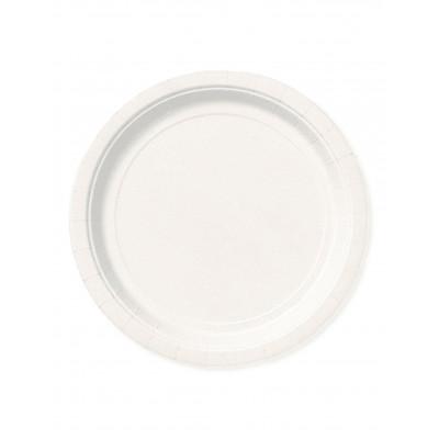 Taniere biele 8ks 18CM