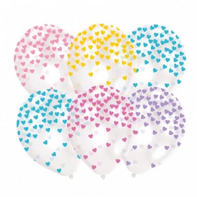 6 Latexove balony  Heart...