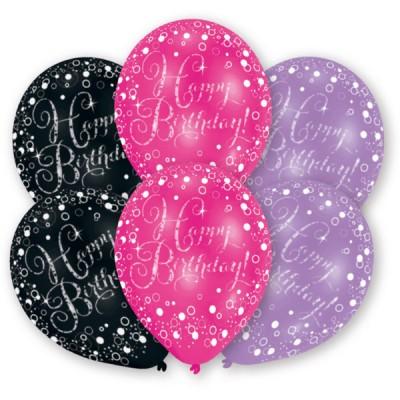 6 Latexove balony Pink,...