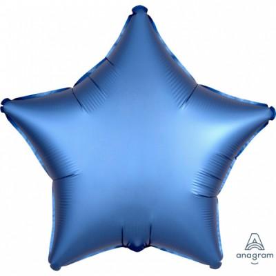Balon modra hviezda matna 45cm
