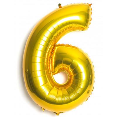 Balon zlaty c.6   88cm
