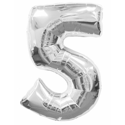 Balon strieborny c.5   88cm