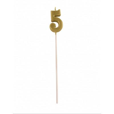 Sviecka na palicke zlata c.5