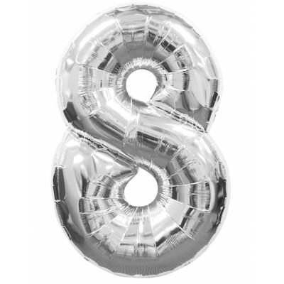 Balon strieborny c.8   88cm