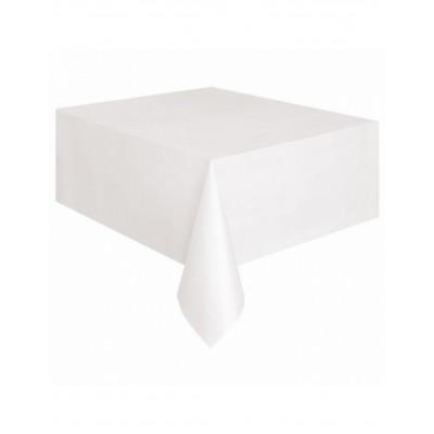 Obrus plastovy biely 137X274