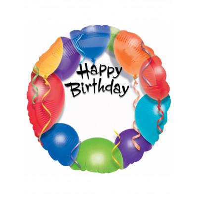 Balon Happy Birthday 45cm