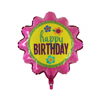 Balon Happy Birthday kvet 45CM
