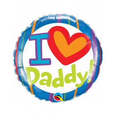 """Balon """"I LOVE DADDY!"""" 45cm"""