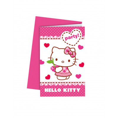 Pozvanky  HELLO KITTY 6ks