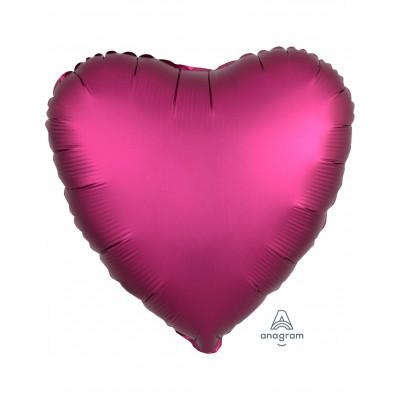 Ruzovy balon srdce matne 45CM