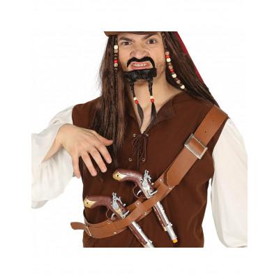 Opasok pirat s 2 zbranami