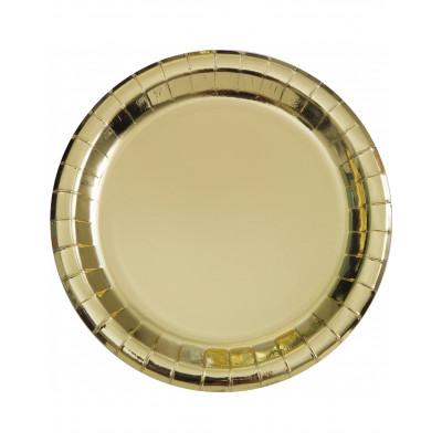 Zlate taniere 8ks 22CM
