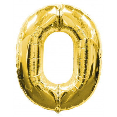 Balon zlaty c.0   88cm
