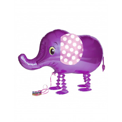 Balon slon fialovy 46,2CM