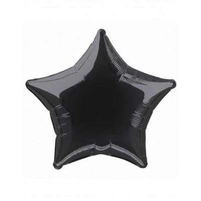 Balon cierna hviezda 45cm