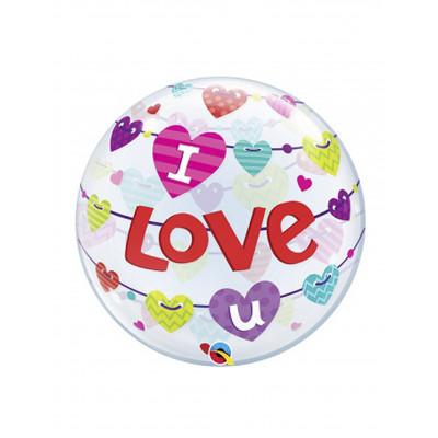 BUBBLES balon I LOVE U