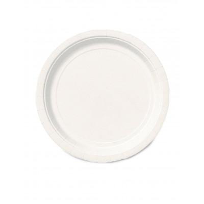 Taniere biele 8ks 23CM