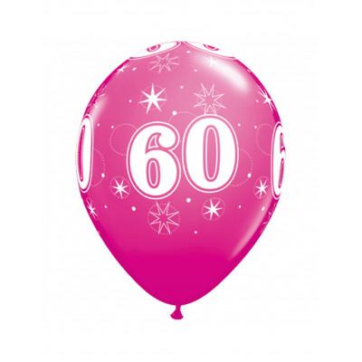 Latexove balony ruzove c.60...