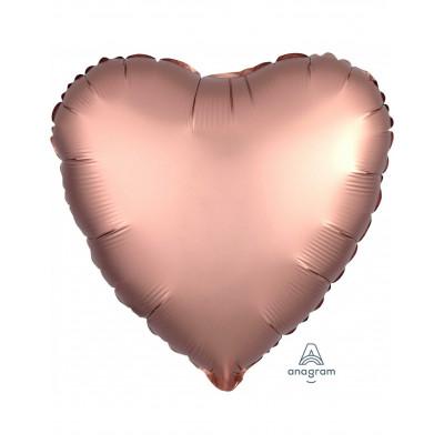 Rosegold Balon srdce matne...