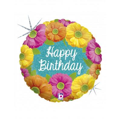 Balon kvety HAPPY BIRTHDAY...