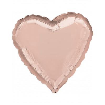 Rosegold balon srdce 45CM