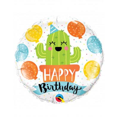 Balon Happy Birthday Kaktus...