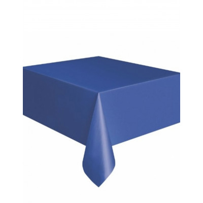 Obrus modry plastovy 137x274cm