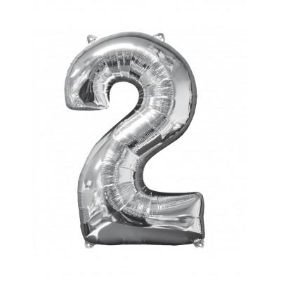 Balon strieborny c.2   88cm