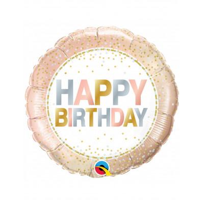 Balon Rose Gold Happy Birthday