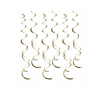 Spiraly zlate 12ks
