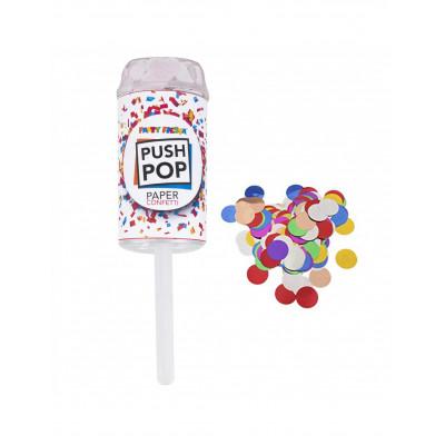 Push pop konfety farebne18CM